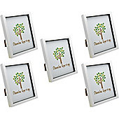 White 8x10 Box Photo Frame - Standing & Hanging - Pack of 5