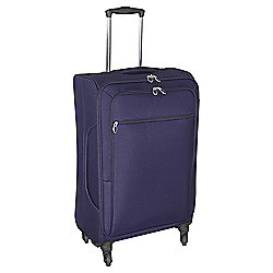 Tesco Lightweight 4-Wheel Medium Suitcase - Purple