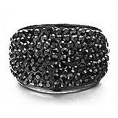 Shimla Unisex Black Crystal Pave Ring SH-086SM