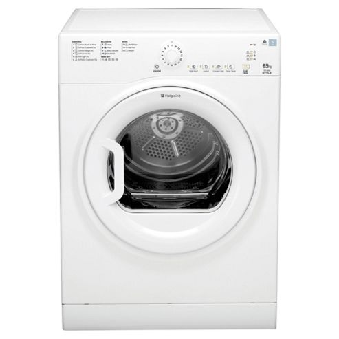 Hotpoint TVYL655C6P Vented Tumble Dryer , 6.5kg Load, Polar