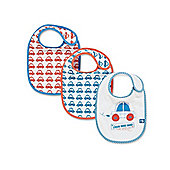 Mothercare Little Beep Beep Bibs- 3 Pack