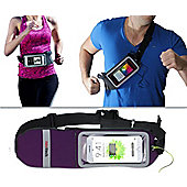 "Navitech Purple Smartphone Running Jogging Waistband For 5"" to 6"" Phones and Phablets"