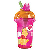 Winnie The Pooh Pink Click Lock Flip Straw Cup