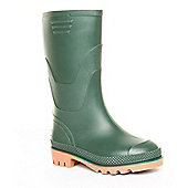 Brantano Boys Basic Welly Green Wellington Boots - Green