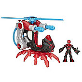 Playskool Heroes Marvel Super Hero Adventures Big Time Spider-Man Blade Copter with Figure