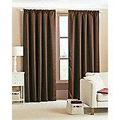 Diamond Woven Blackout Curtains - Brown
