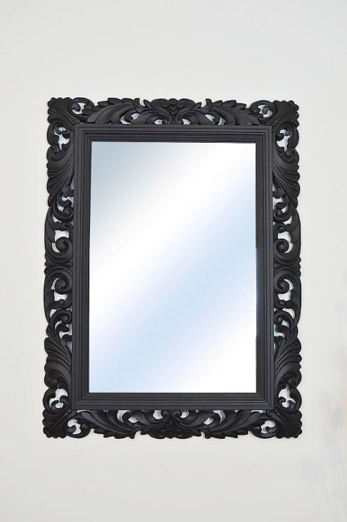 buy large black antique shabby chic ornate wall mirror 4ft