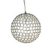 Globen Lighting Shell One Light Pendant in Beige