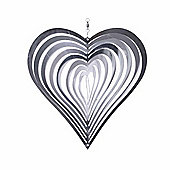 Heart Shaped Steel Windspinner For The Garden