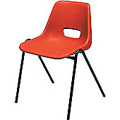 Jemini Stacking Chair Polypropylene Red