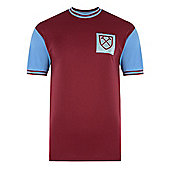 West Ham United 1966 No6 Home Shirt Claret & Sky Blue M