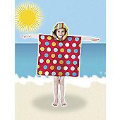Country Club Poncho Pal Hooded Beach / Bath Robe, Spots