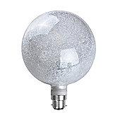 MiniSun 3W Warm White LED Glitter Globe Bulb - BC B22