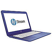 "HP Stream 13-c100na Laptop, 13.3"", Windows 10, Intel Celeron, 2GB RAM, 32GB - Blue"