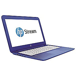 HP Stream 13-c100na, 13.3-inch Laptop with Intel Celeron, 2GB RAM, 32GB - Blue