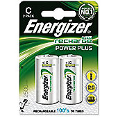 Energizer Recharge Battery NiMHd Pk2 C
