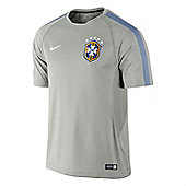 2014-15 Brazil Nike Training Shirt (Grey) - Grey