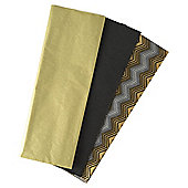 Tesco 3 Sheet Tissue Gold Chevron