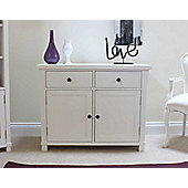 Hampton White Painted Small Two Door Sideboard
