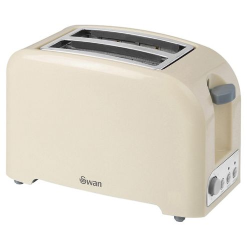 Swan 2 Slice Toaster - Cream