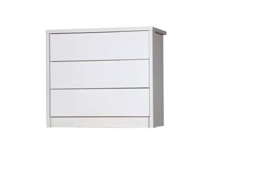 Alto Furniture Avola 3 Drawer Chest - Grey Avola Carcass With Grey Gloss