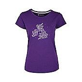 Umbrella Map Womens Printed Short Sleeve Breathable Casual Tee Shirt T-Shirt Top - Purple