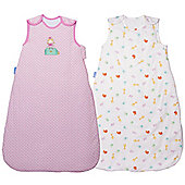 Grobag Day & Night Twin Pack - Jungle Friends & Ballerina (6-18 Months)