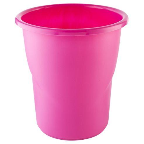 Tesco Kids Plastic Bin, Pink