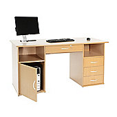 Alphason Dallas Computer Desk in Beech