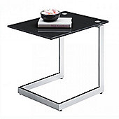 Cheshire - Side / Occasional Glass Table - Black /chrome
