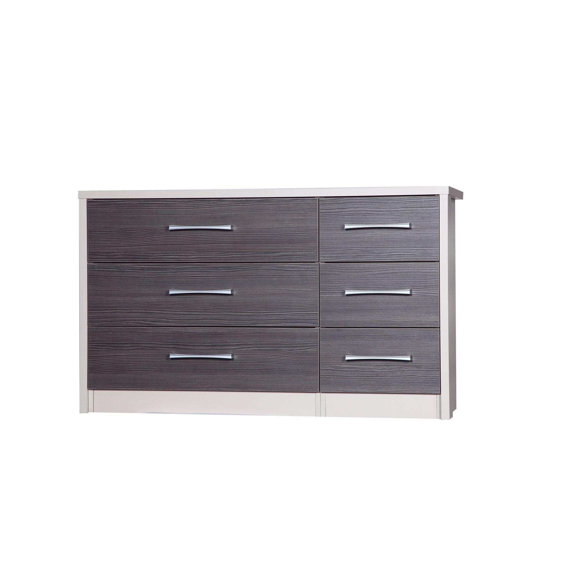 Alto Furniture Avola 6 Drawer Double Chest - Cream Carcass With Grey Avola at Tesco Direct