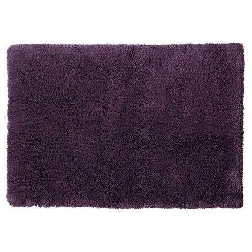 buy tesco luxury deep pile bath mat aubergine from our. Black Bedroom Furniture Sets. Home Design Ideas