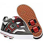 Heelys Bolt Grey/Black/Red/White Heely Shoe - Red