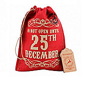 Red Hessian Christmas Gift Bag