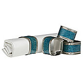 Premier Housewares 3cm Nickel Plated Napkin Rings (Set of 4) - Turquoise