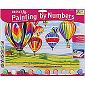 Reeves Painting by Numbers Large - Hot Air Balloons - Art Store