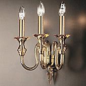 De Majo 2400 Wall Lamp - Small - Gold - Amber