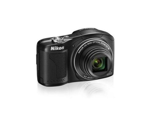 Nikon Coolpix L610 Digital Camera, Black, 16MP, 14x Optical Zoom, 3.0 inch LCD Screen