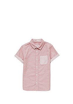 F&F Narrow Stripe Short Sleeve Shirt - Red