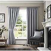 Curtina Marlowe Grey Lined Curtains - 90x90 Inches