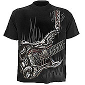Spiral Air Guitar T-shirt, Short Sleeve, Adult Male, Large, Black (tr327600-l) - Other