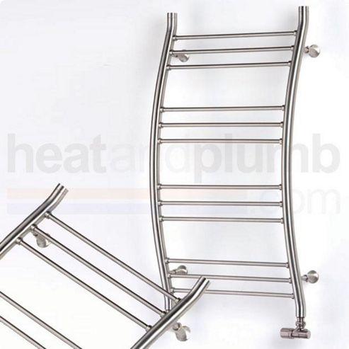 Aeon Capadoccia Stainless Steel Curved Ladder Towel Rail 900mm High x 500mm Wide