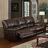 Sofa Source Carlos Bonded Leather 3 Seater Reclining Sofa - Brown