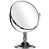 Reflect - Round Free Standing Silver Chrome Bathroom / Make Up Mirror