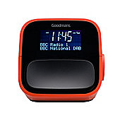 Goodmans NOD DAB+ Digital FM Radio Alarm Clock USB Charging - Red