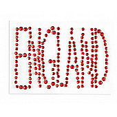 England Red Bling Sticker