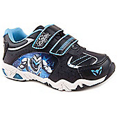 Character Boys Max Steel Lights Black and Blue Trainers