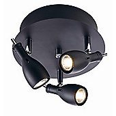 Mark Slojd Lammhult 3 Light Spotlight - Black