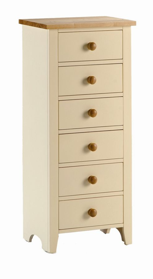 Kelburn Furniture Fanshawe Painted 6 Drawer Wellington Chest