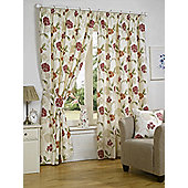 Bethany Ready Made Curtains Pair, 90 x 72 Pink Colour, Modern Designer Look Pencil pleated curtains